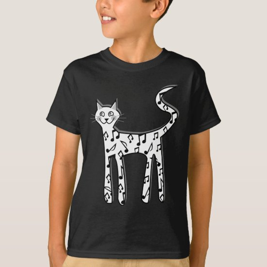 Musical note cat T-Shirt