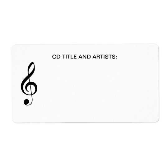 Musical Note CD Music Title and Artist Organizer Label