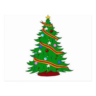 Musical Note Christmas Tree Postcard