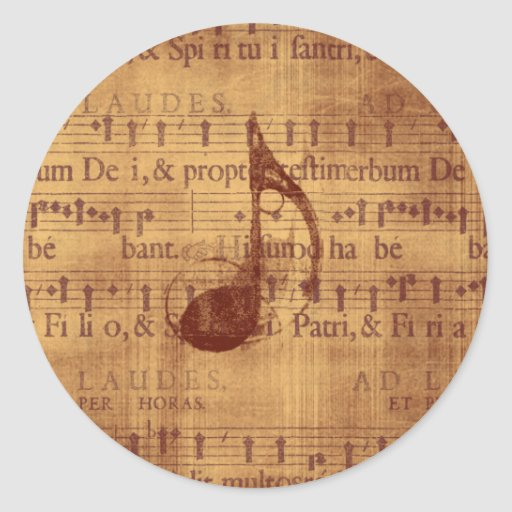 Musical Note Classic Round Sticker