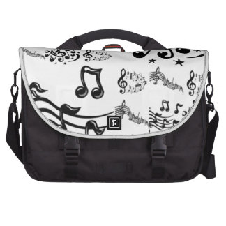 Musical Note Collage Laptop Bag