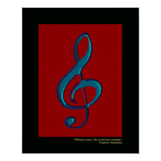 musical note decor walls posters