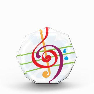 Musical Note Design Acrylic Award