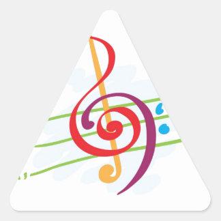 Musical Note Design Triangle Sticker