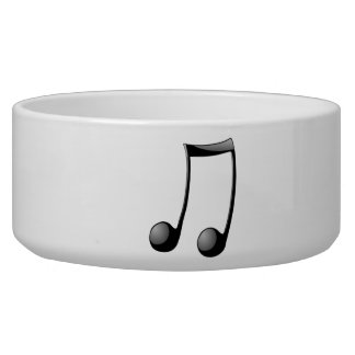 Musical Note Dog Bowl