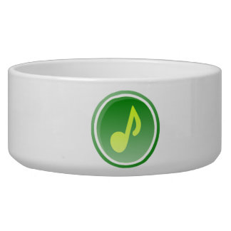 Musical Note Dog Food Bowl