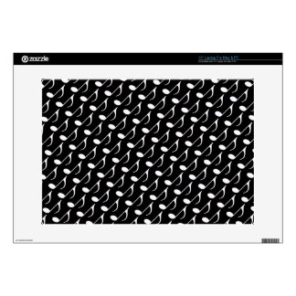 "musical note graphic symbol 15"" laptop skin"