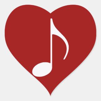 musical note graphic symbol heart sticker