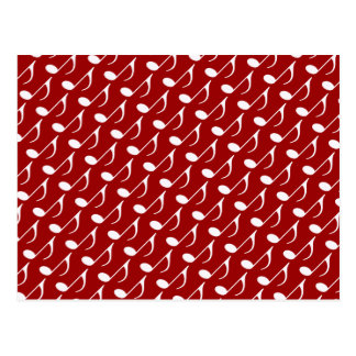 musical note graphic symbol postcard