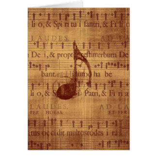 Musical Note Greeting Card