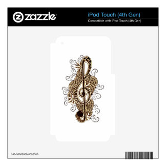 Musical Note iPod Touch 4G Skins