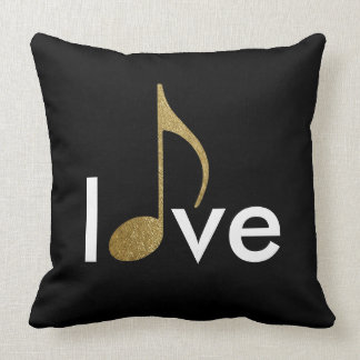 musical-note love-word throw pillow