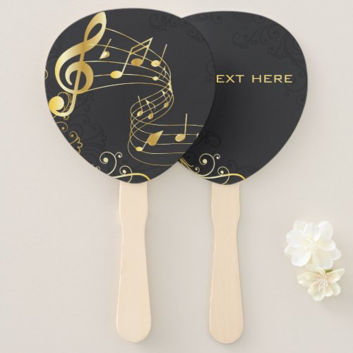 Musical Note Luxury elegant design Hand Fan