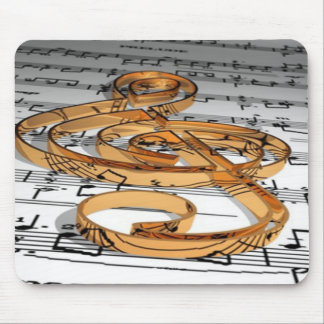 musical note mouse pad