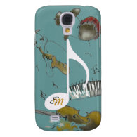 musical note & music instruments samsung galaxy s4 cover