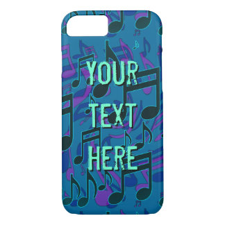 Musical Note Music Pattern Blue Green Customizable iPhone 8/7 Case