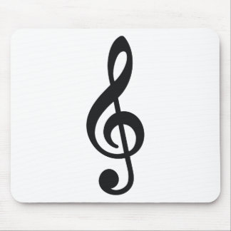 musical note note treble key mouse pads