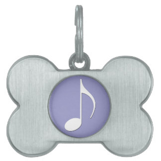 Musical Note on any color background Pet Tags