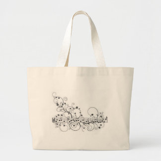 Musical Note Pattern Tote Bags