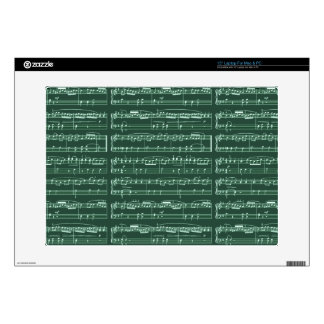 "musical note patterned 15"" laptop decal"