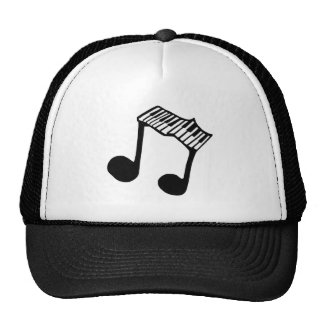 Musical Note Piano Keyboard Hat