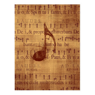 Musical Note Postcard