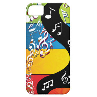 Musical Note Swirls In Color iPhone 5 Cover