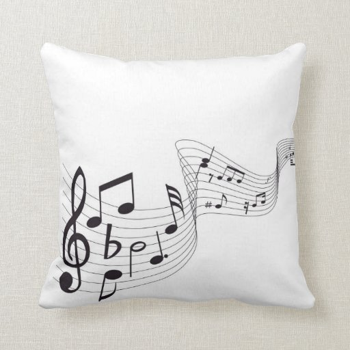 Musical Note Throw Pillow Zazzle
