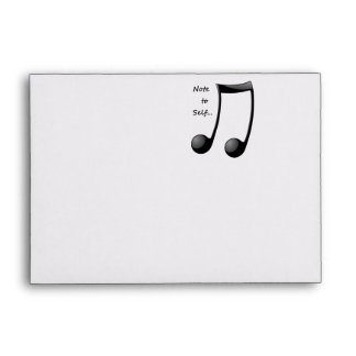 Musical - Note to Self Envelope