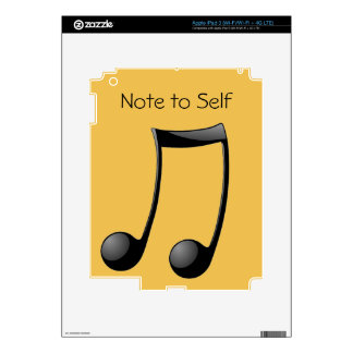 Musical - Note to Self Skins For iPad 3