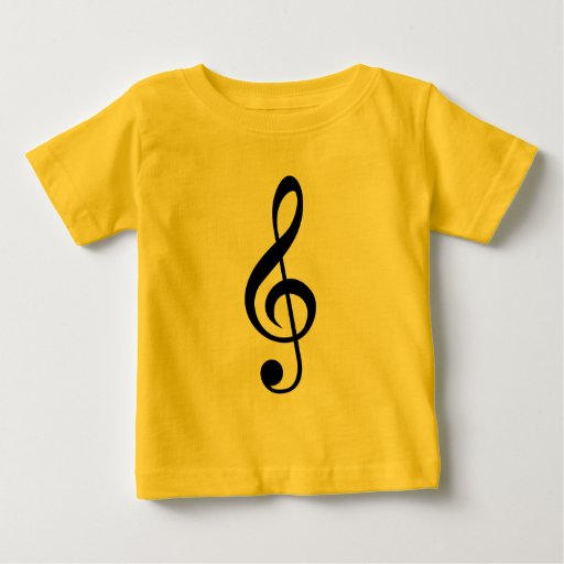 Musical Note Treble Clef Clothing Design Shirt