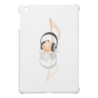 musical note with headphone iPad mini case