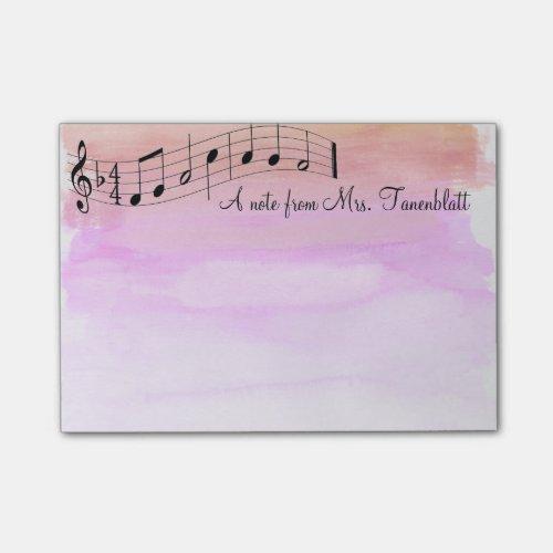 Musical notepad watercolor