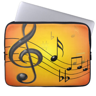 Musical Notes 13 inch Electronics Bag Computer Sleeves