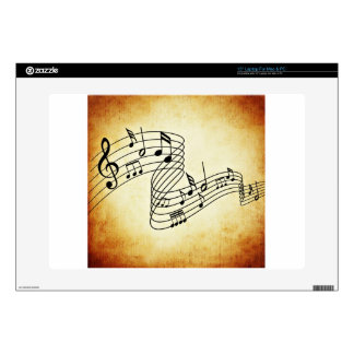 "Musical Notes 15"" Laptop Decal"