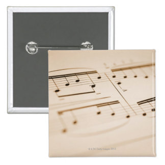 Musical Notes 2 2 Inch Square Button