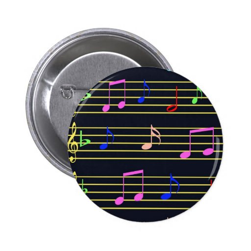 Musical Notes 2 Inch Round Button