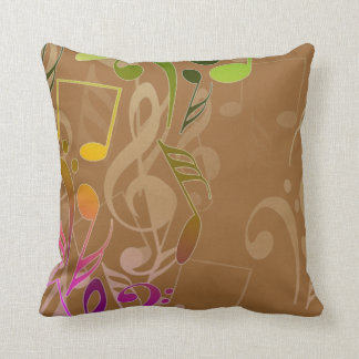 Musical Notes 2 Sided Pillow