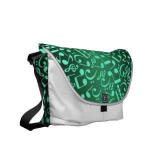 Musical Notes 2 (Teal) Courier Bag