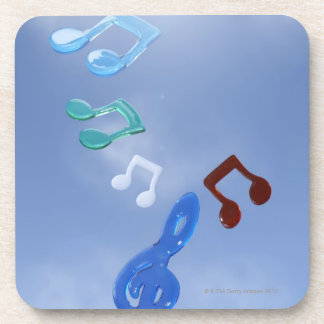 Musical Notes 3 Beverage Coaster