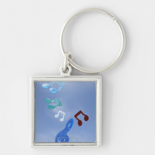 Musical Notes 3 Keychain