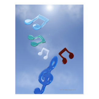 Musical Notes 3 Postcard