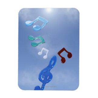 Musical Notes 3 Rectangular Magnets