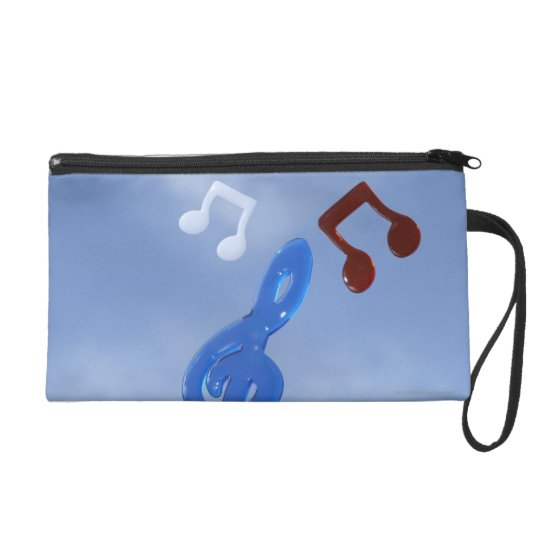 Musical Notes 3 Wristlet Purse