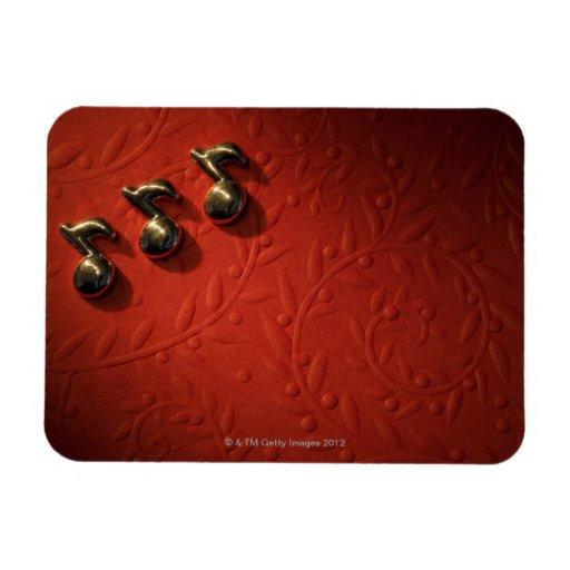 Musical Notes 6 Rectangular Photo Magnet