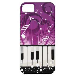 Musical Notes and Ivory Keys Purple Case