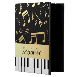 Musical Notes and Piano Keys Black and Gold Powis iPad Air 2 Case