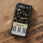 Musical Notes and Piano Keys Black and Gold Tough Xtreme iPhone 6 Case