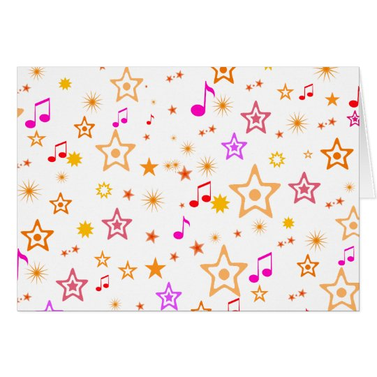 Musical Notes and Stars: