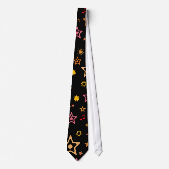 Musical Notes and Stars: Custom Necktie: Tie